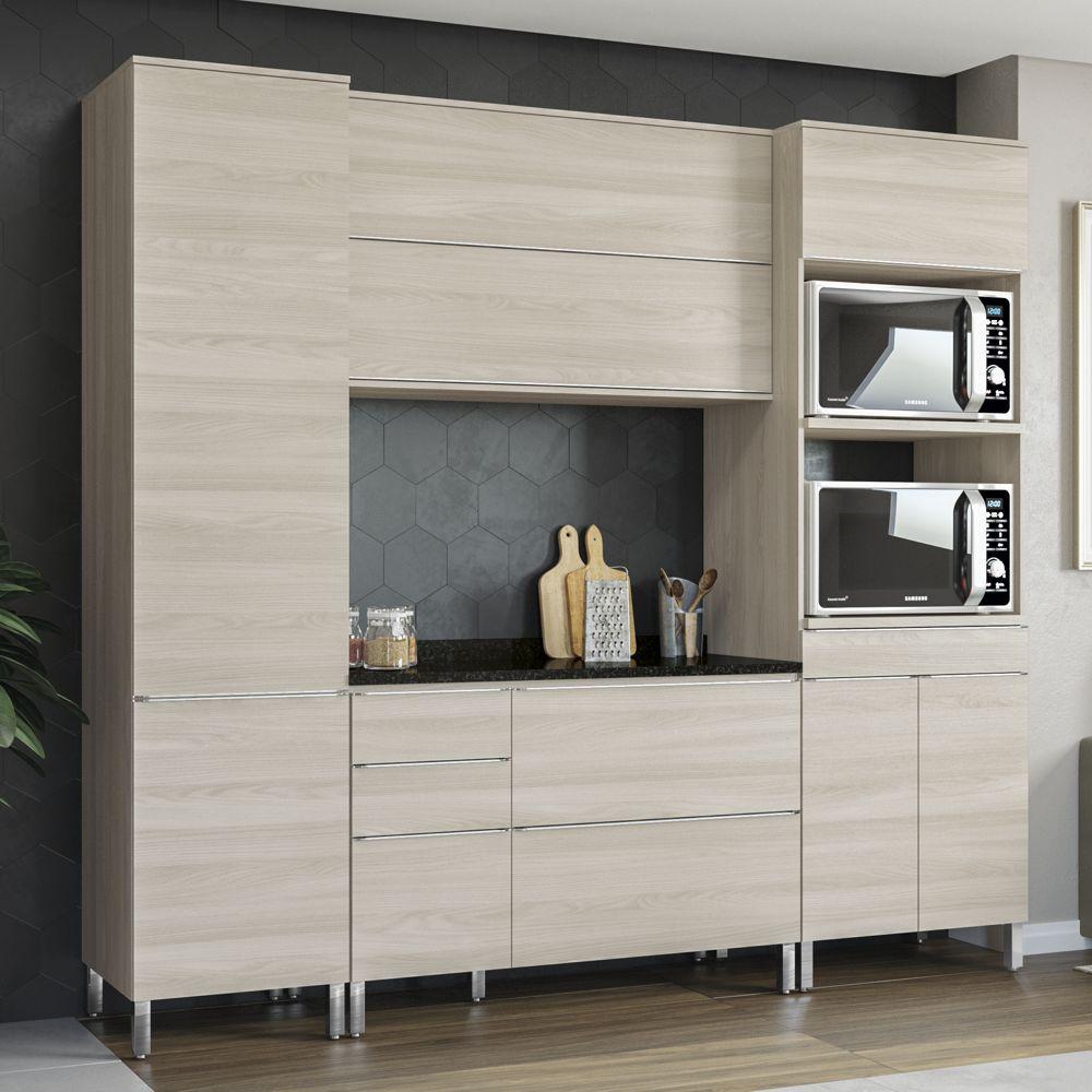 Armário de Cozinha Completo 5pc 2,40m CB363 Versatti Kappesberg