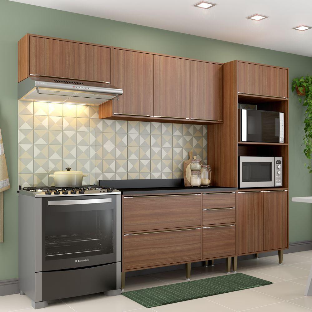 Armário de Cozinha Completo 5pc 2,60m Calábria 5457 Multimóveis