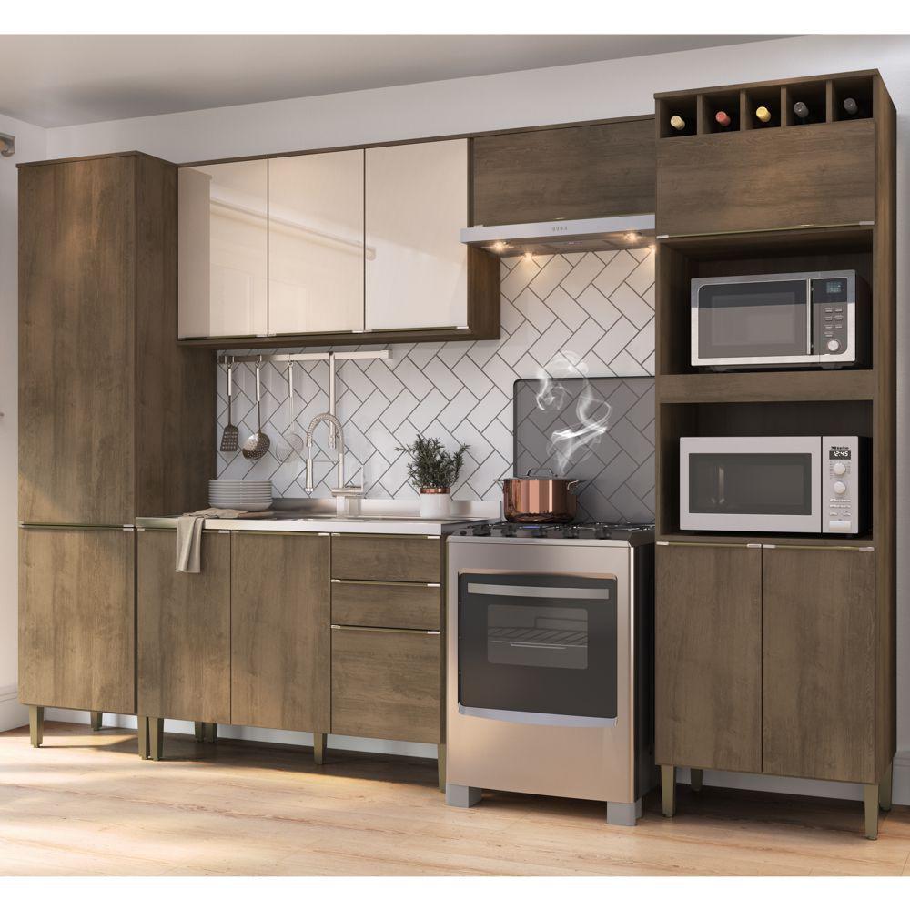 Armário de Cozinha Completo 5pc 3,10m A2887 Áustria Casamia