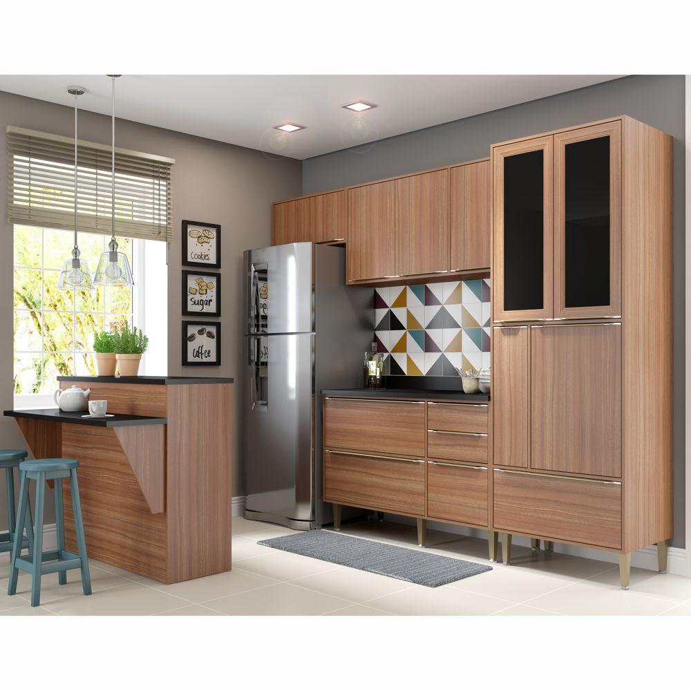 Armário de Cozinha Completo 6pc 2,60m Calábria 5463 Multimóveis