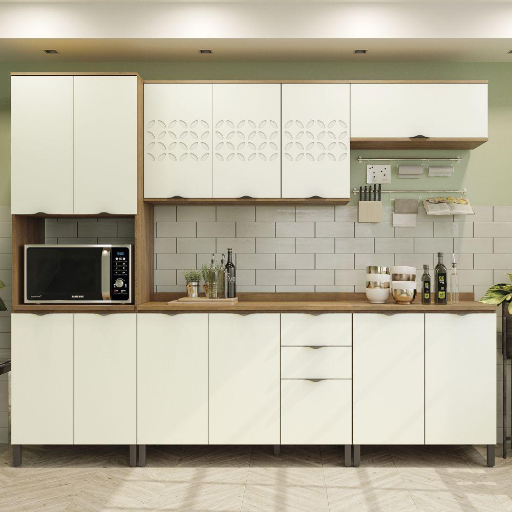 Armário de Cozinha completo 7 peças CB592 Lótus Kappesberg