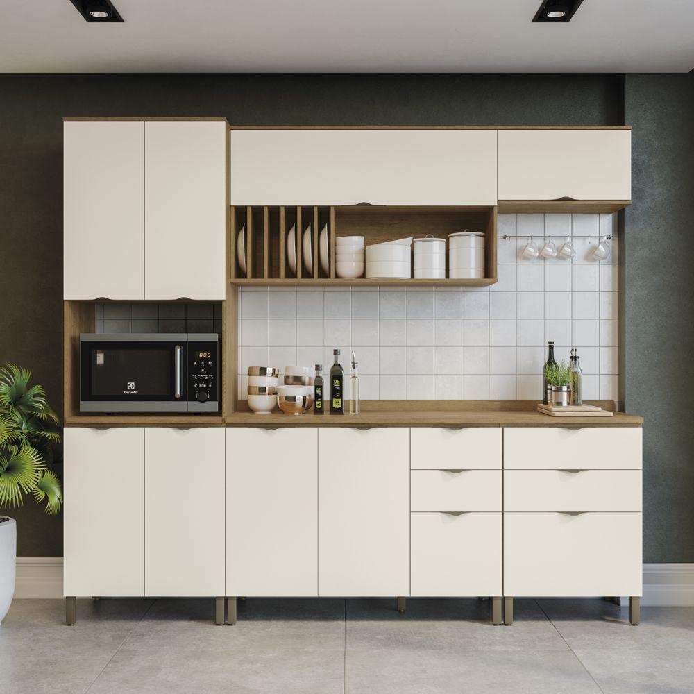 Armário de Cozinha completo 7 peças CB598 Lótus Kappesberg