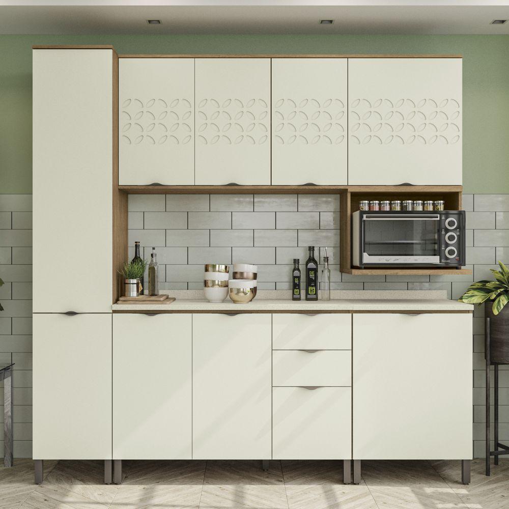Armário de Cozinha completo 8 peças CB574 Lótus Kappesberg