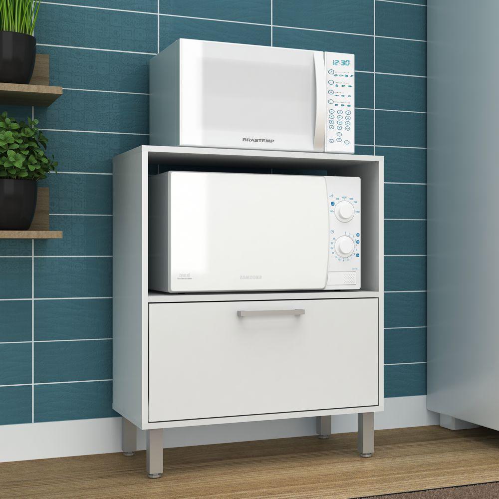 Armário de Cozinha Multiuso 1 Porta 1 Nicho 67,5cm BMU 29 BRV Móveis