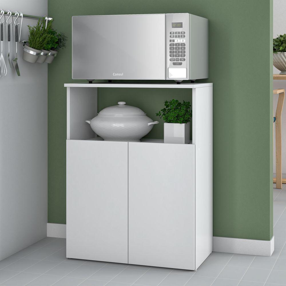 Armário de Cozinha Multiuso 2 Portas 60cm BMU 122 BRV Móveis