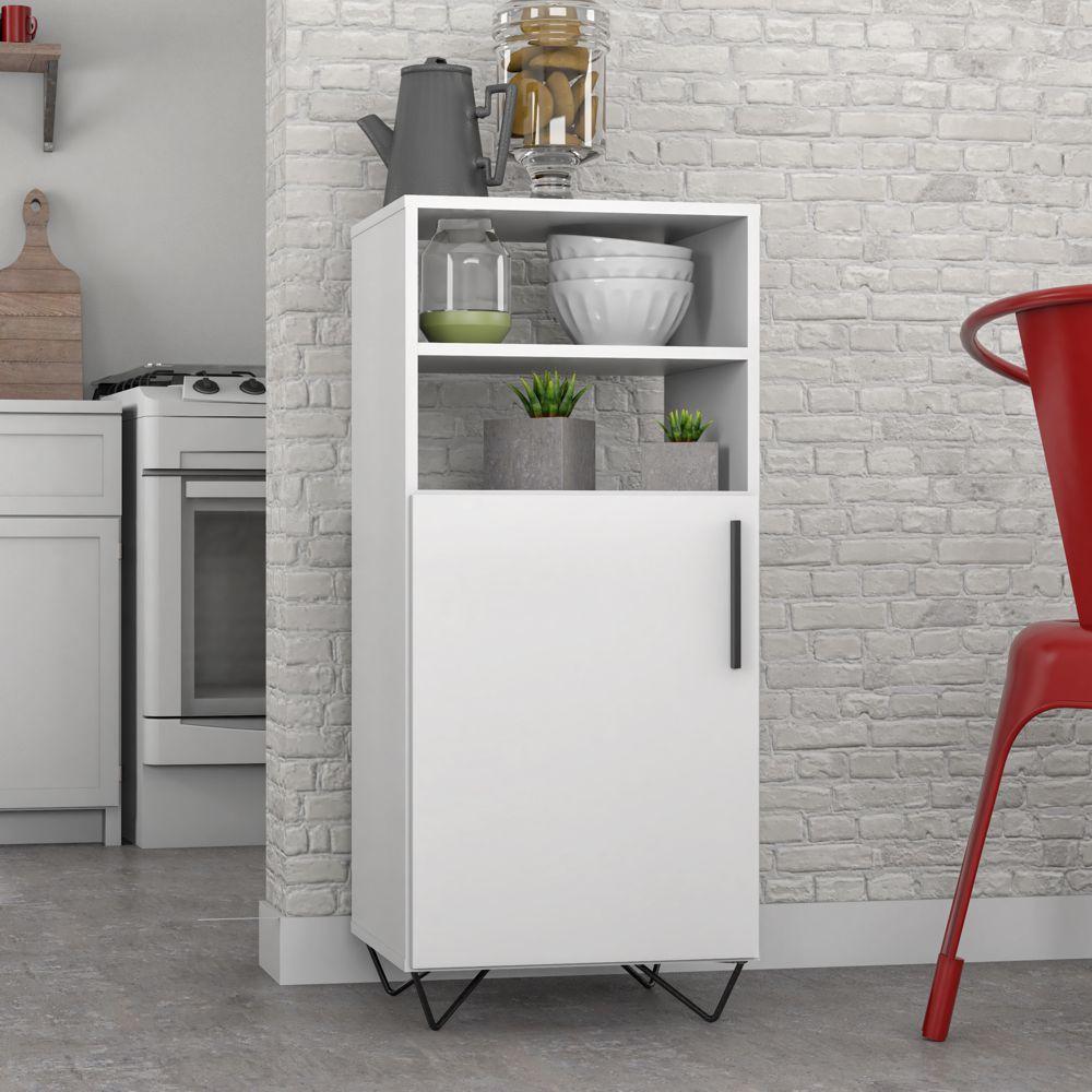Armário de Cozinha Multiuso Pés Aramados 90cm BMU 169 BRV Móveis