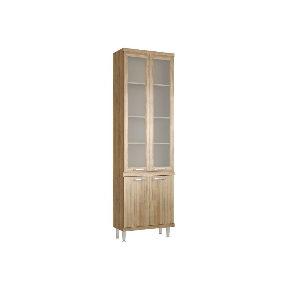 Armário de Cozinha Paneleiro com vidro 4 Portas 70cm 5121-2VD Sicília Multimóveis