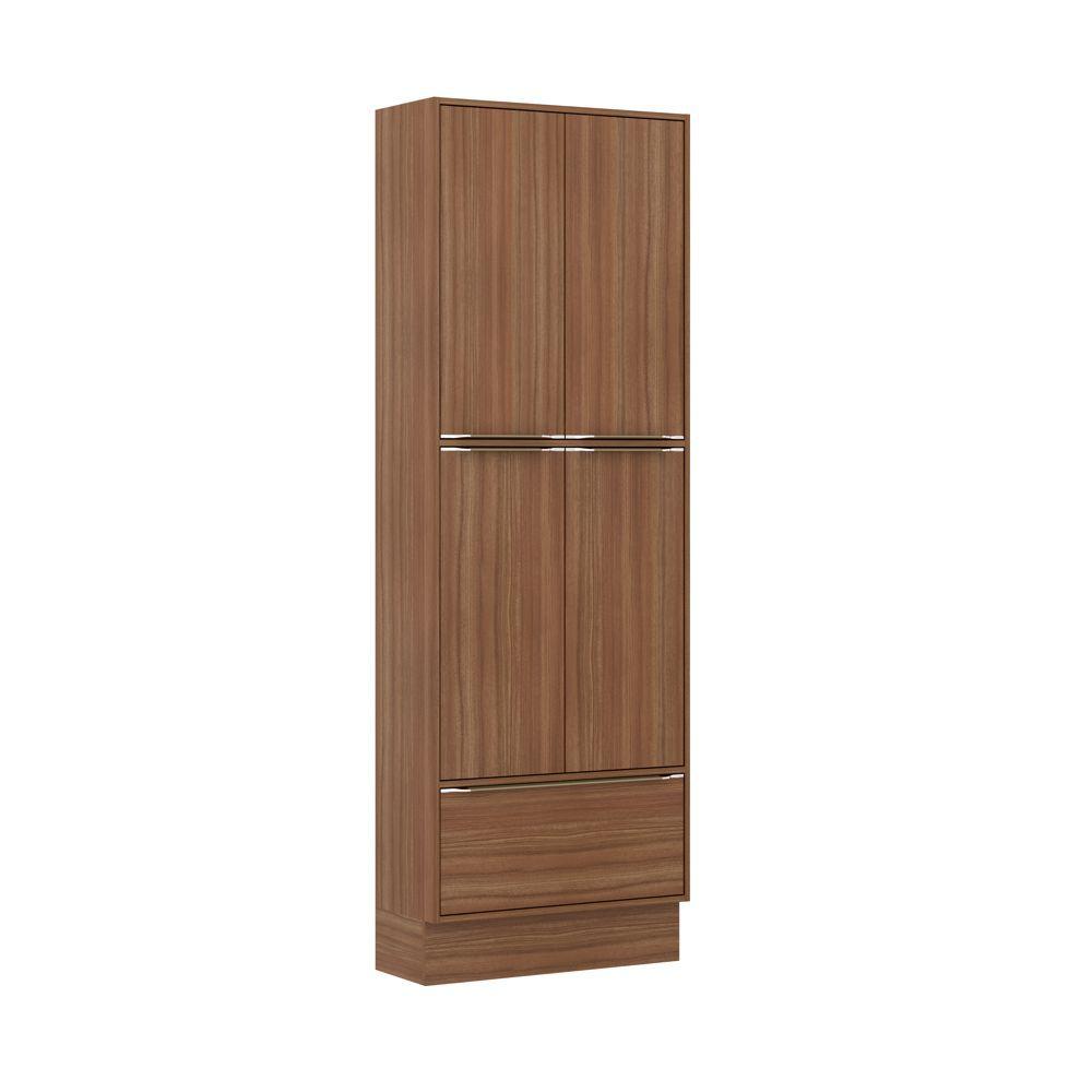 Armário de Cozinha Paneleiro Duplo 70cm com Rodapé Calábria 5 portas 5405R Multimóveis