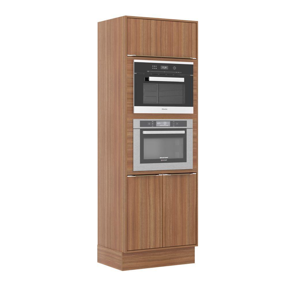 Armário de Cozinha Torre Fornos 70cm Calábria com Rodapé e Fechamento 3 portas 5404RMF Multimóveis