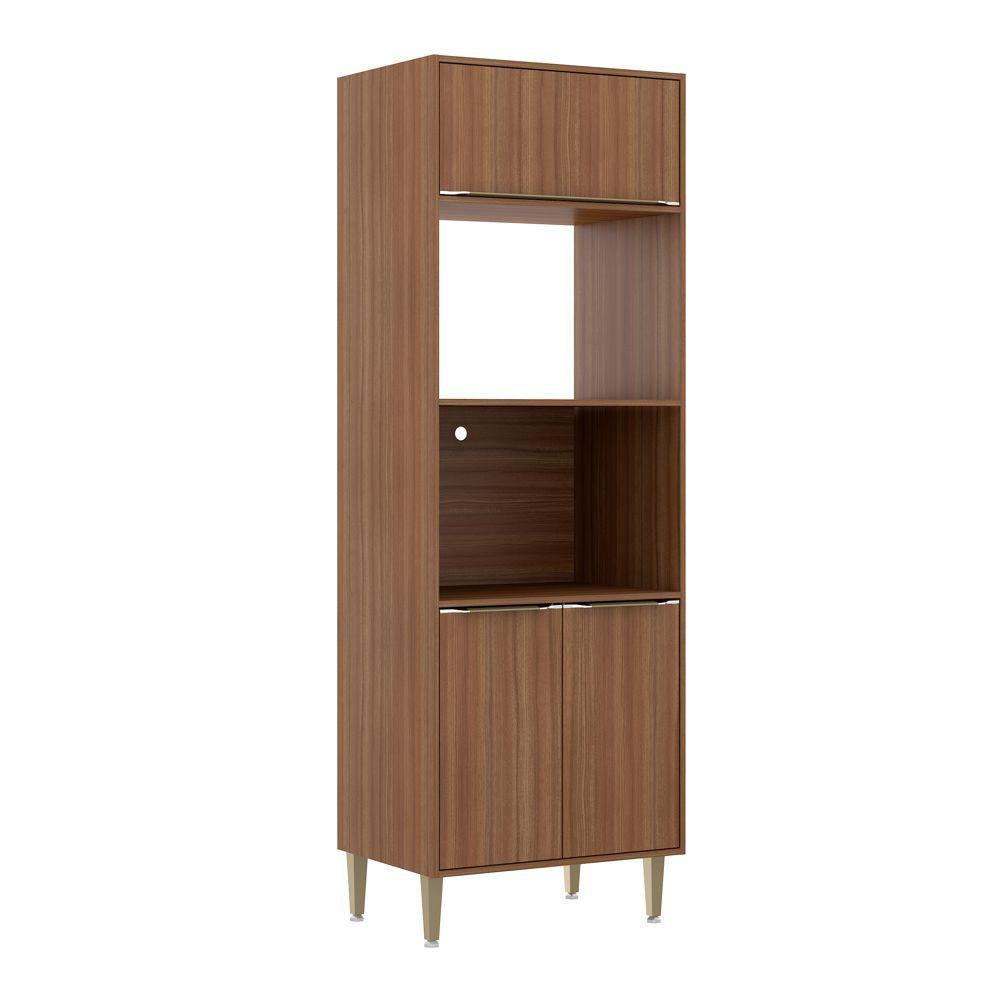 Armário de Cozinha Torre para Fornos 70cm 2 nichos Calábria 5404 Multimóveis