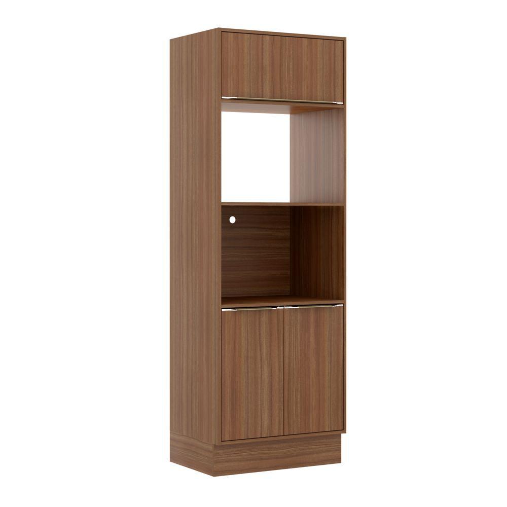 Armário de Cozinha Torre para Fornos 70cm 2 portas com Rodapé 5404R Multimóveis