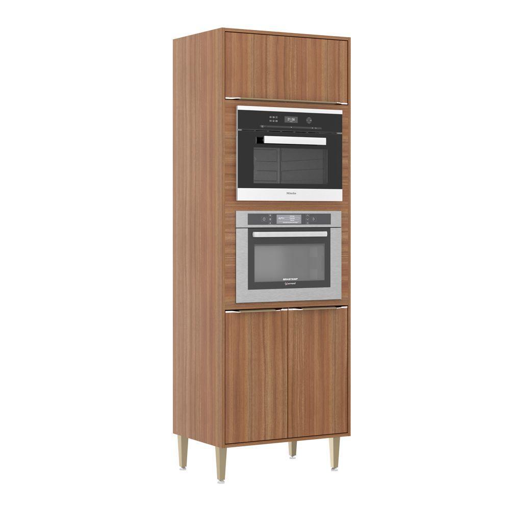 Armário de Cozinha Torre para Fornos de embutir 70cm 2 nichos Calábria 5404MF Multimóveis