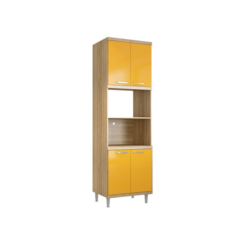Armário de Cozinha Torre Quente para Forno e Microondas 2 Nichos 4 Portas 5120 Sicília Multimóveis