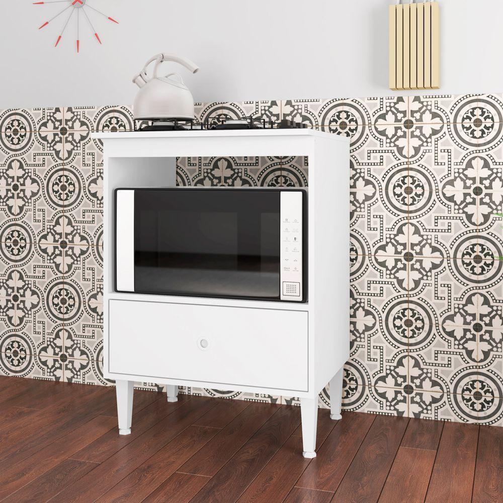 Balcão 60cm para Forno e Cooktop 4 Bocas com Gavetão Dubai BL4060 Art in Móveis