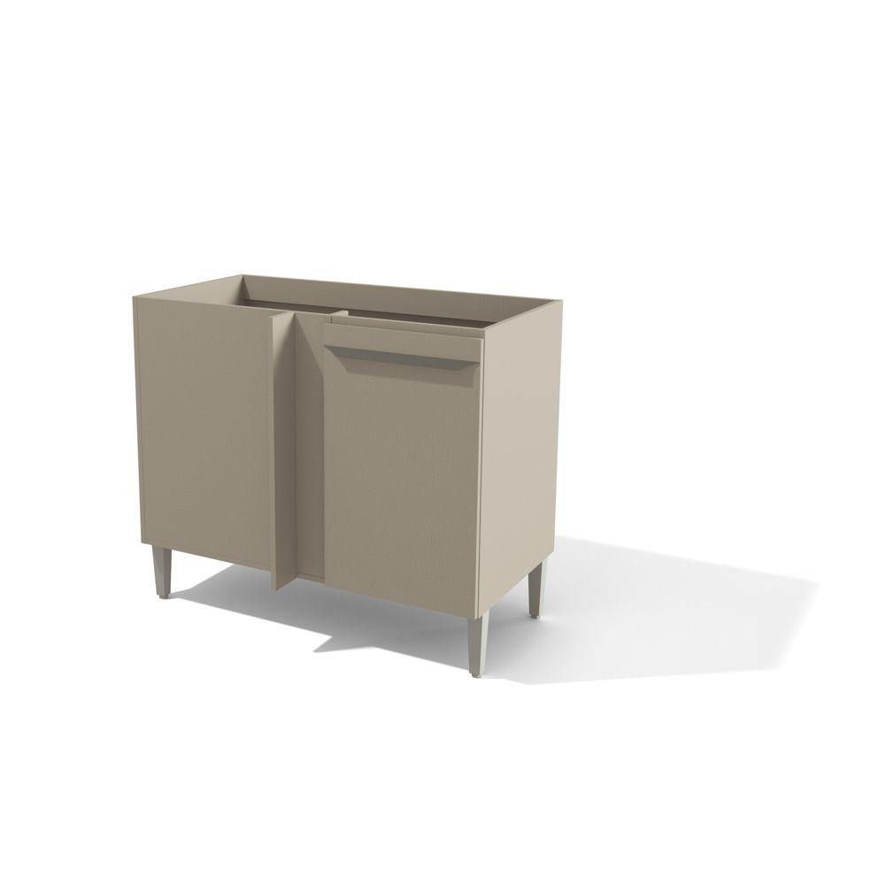 Balcão de Canto para Cozinha Modulada 98x59cm 1 Porta Versa L824 Kappesberg
