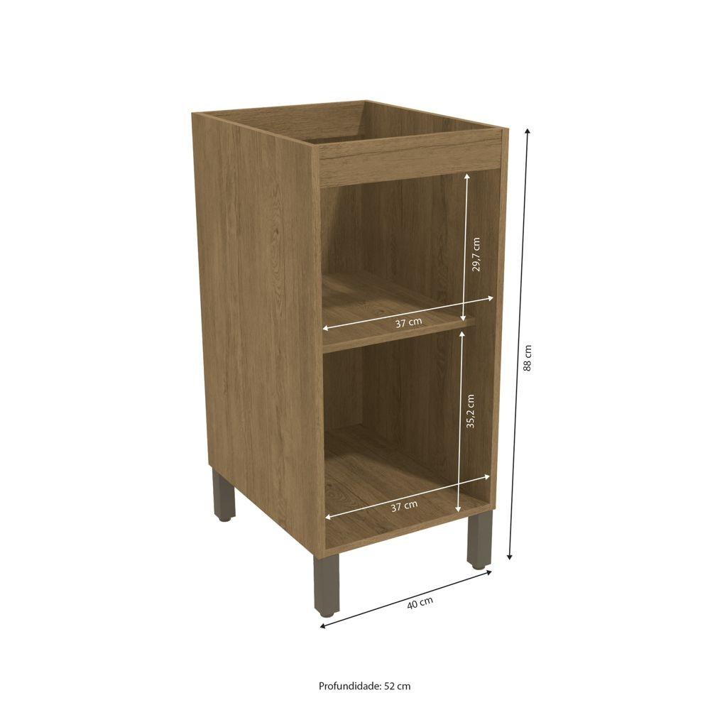 Balcão de Cozinha 1 Porta 40cm J721 Lótus Kappesberg