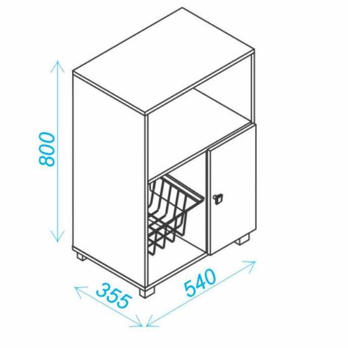 Balcão Fruteira para Forno e Microondas com porta BF 11 BRV Móveis