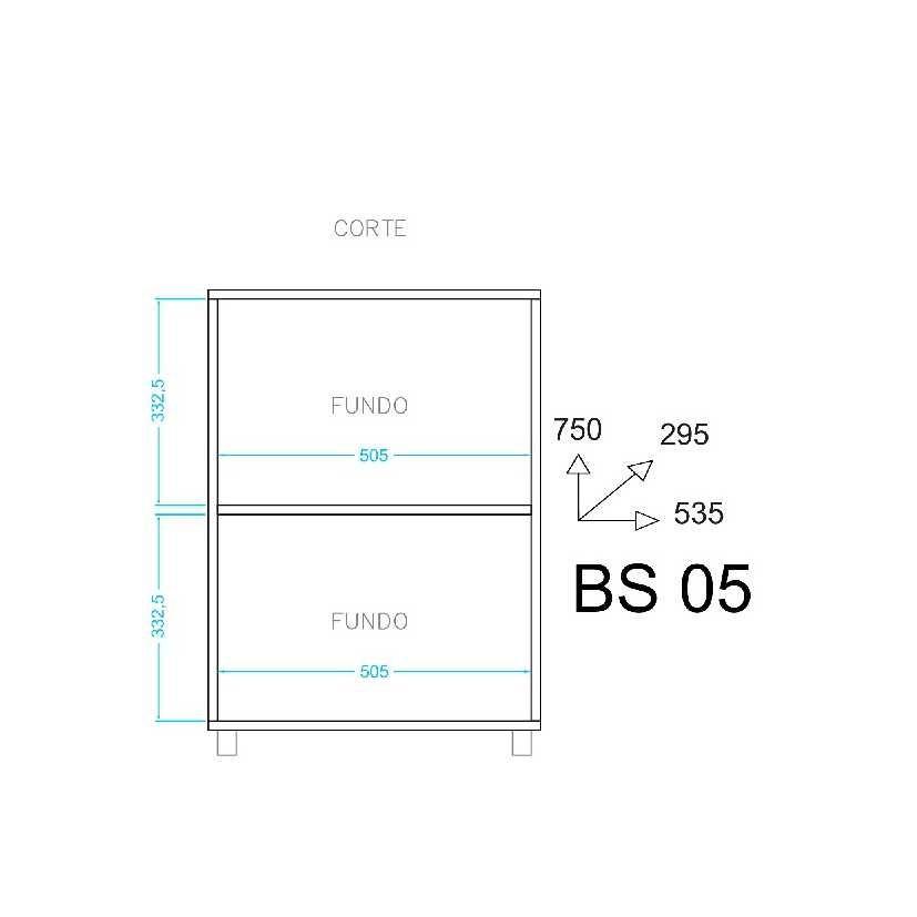 Balcão Multiuso Área de Serviço 2 Portas 53cm BS 05 BRV Móveis