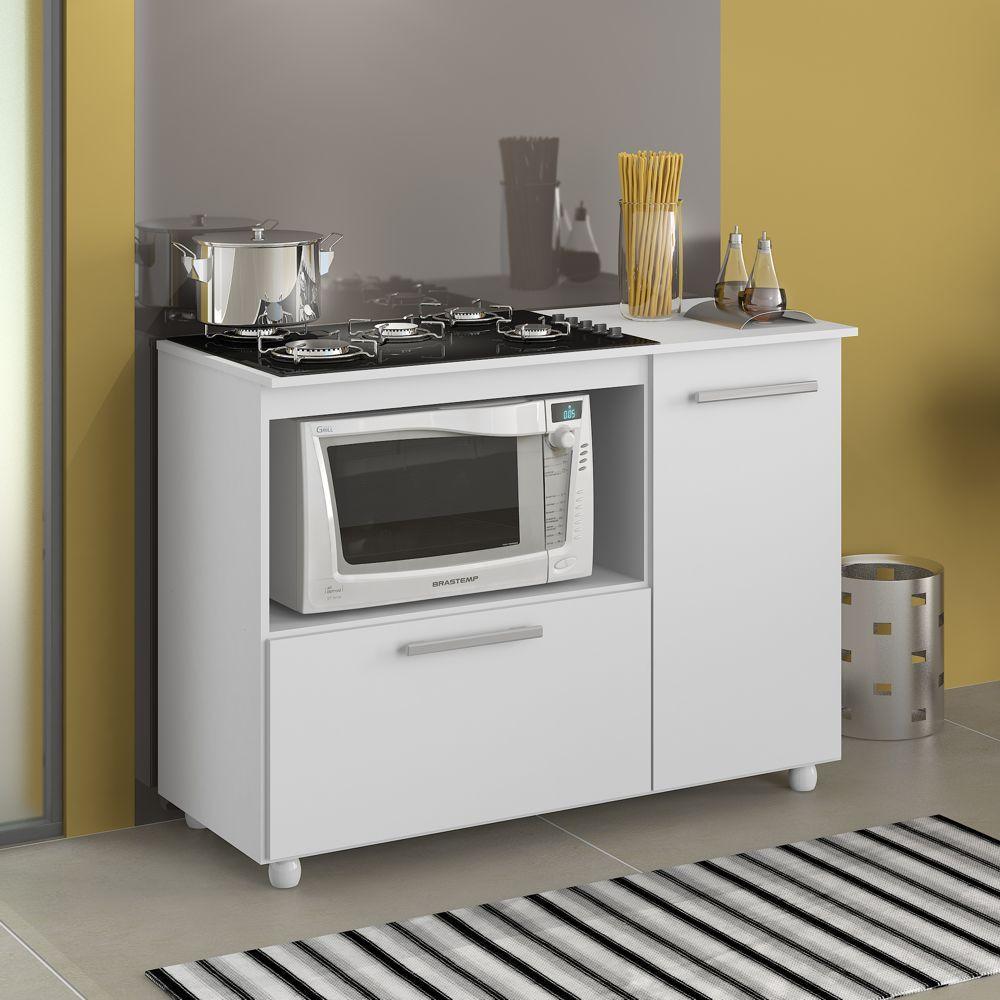 Balcão Multiuso para Cooktop com Espaço Para Forno 2 Portas 5006 Multimóveis