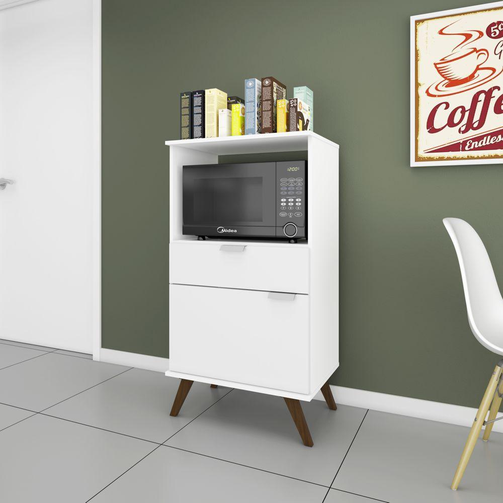 Balcão para Forno/microondas Multifuncional 1 Porta 1 Gaveta 61,5cm RT 3114 Movelbento