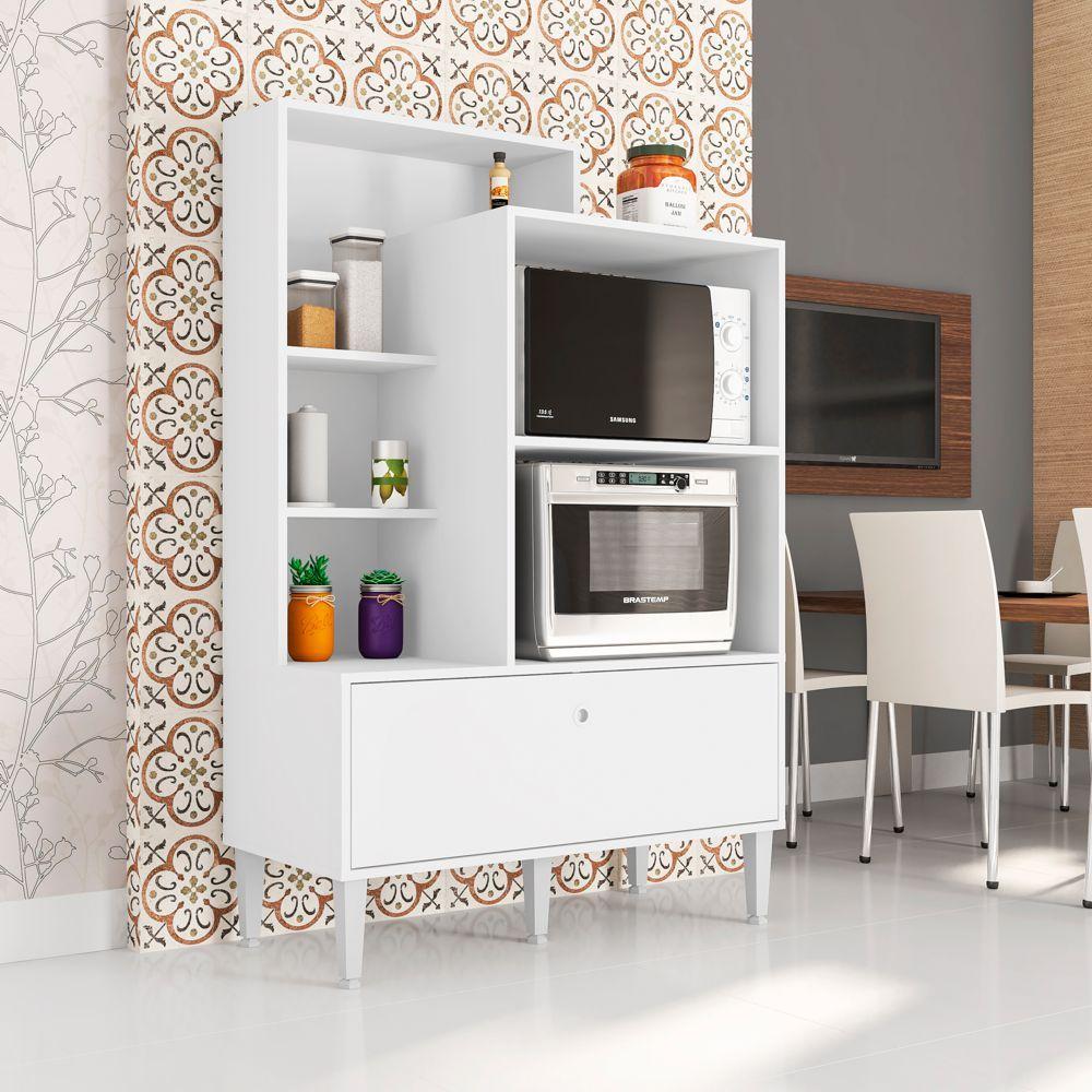 Balcão para Fornos com Estante e Porta Basculante Amsterdã FR9060 Art in Móveis