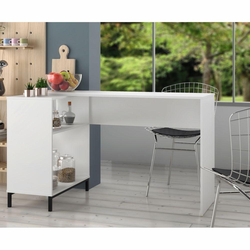 Bancada de Cozinha 1,35m x 69,5cm com prateleira BMU 178 BRV Móveis