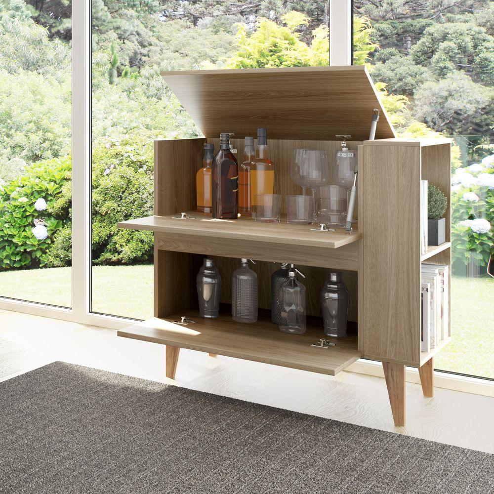 Barzinho Multiuso Basculante 82cm 1001 Drink Be Mobiliário