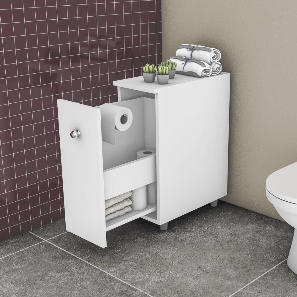 Armário para Banheiro 1 Porta de correr 21cm BCM 116 Movelbento