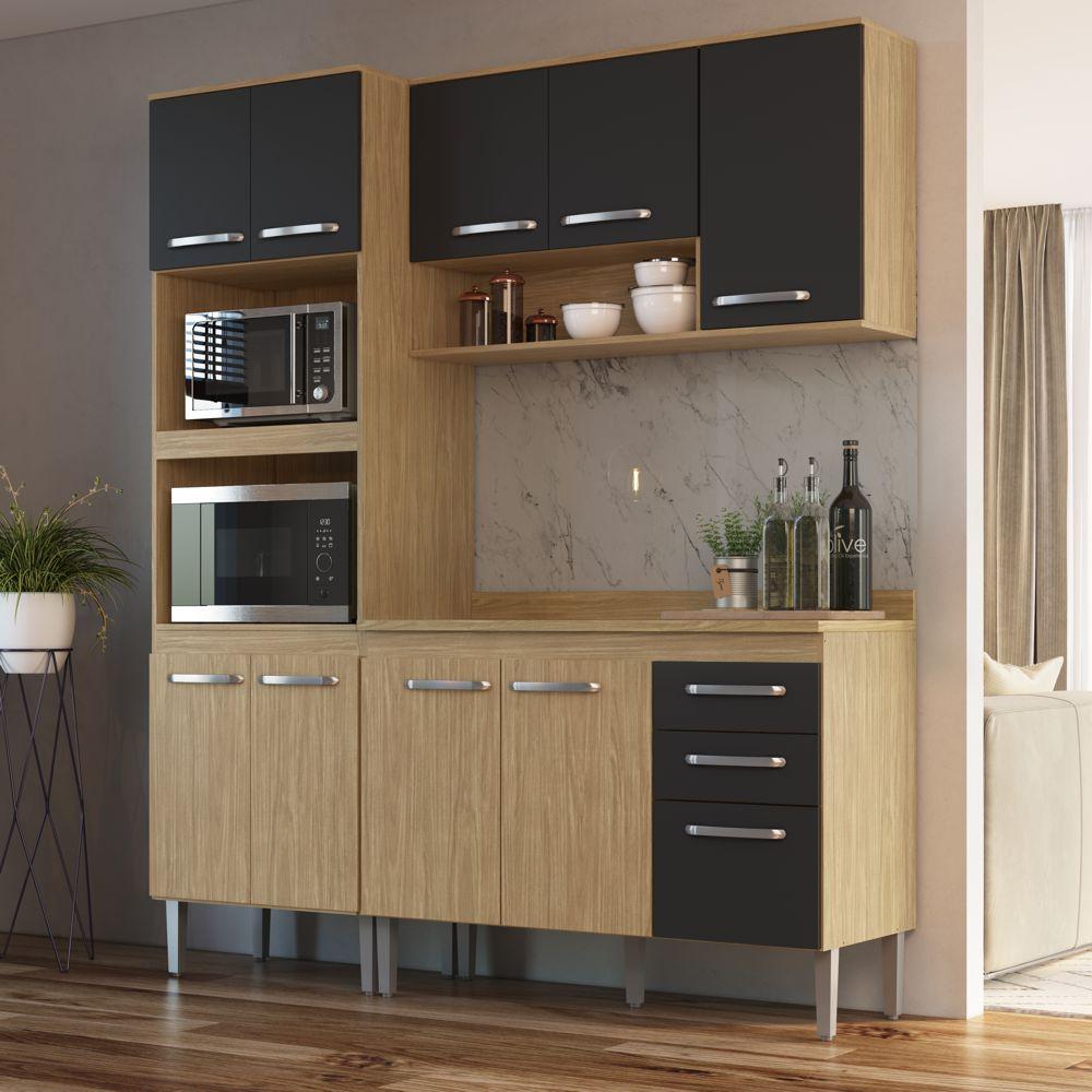 Armário de Cozinha completo 4pc 1,85m Bélgica A3094 Casamia