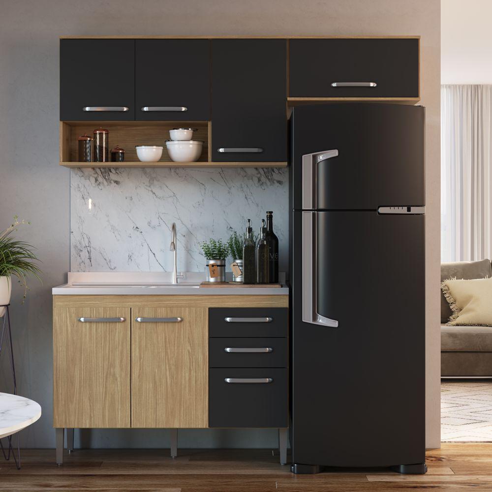 Armário de Cozinha completo 3pc 1,90m Bélgica A3096 Casamia