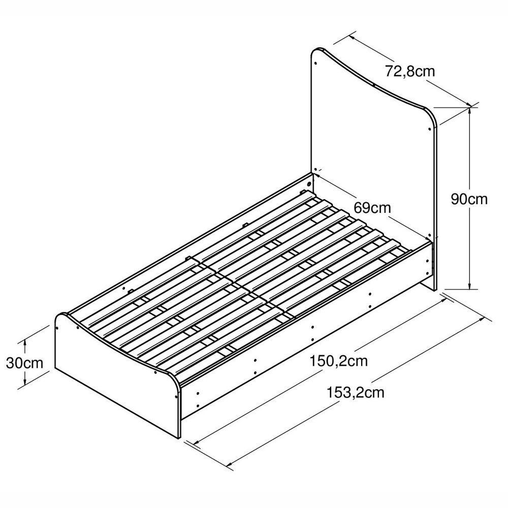Berço-cama Americano com Cômoda Fofura BE8085 Meu Fofinho