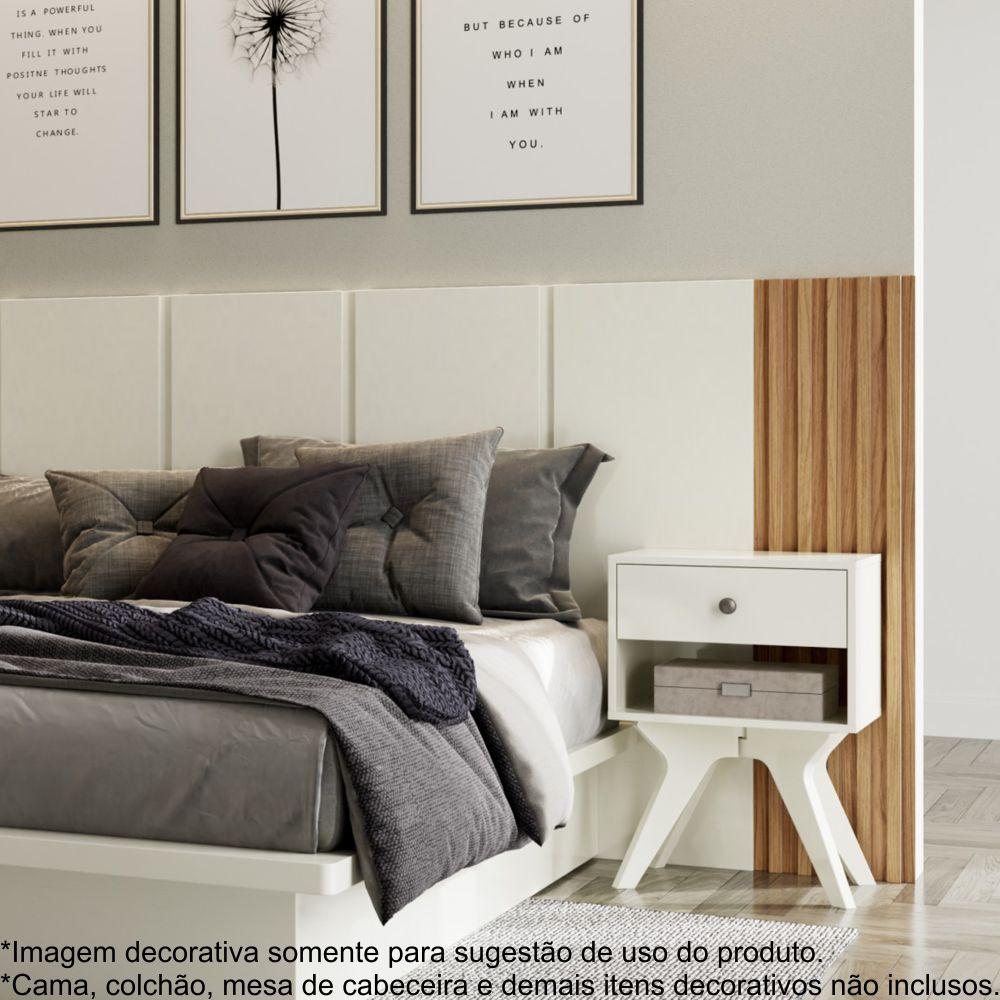 Cabeceira Decorativa Casal com detalhes ripados 100% MDF 2,70m TW184 Dalla Costa