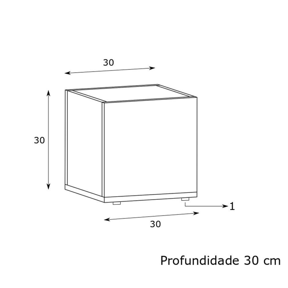 Cachepôt Decorativo Multiuso 30x30cm Modern Office EST-W002 Estilare