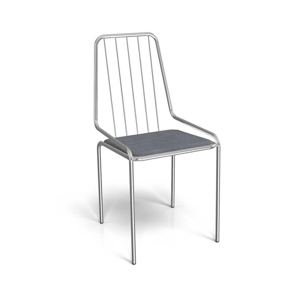Cadeira Benim Cromada com Assento Estofado 1C082CR Kappesberg