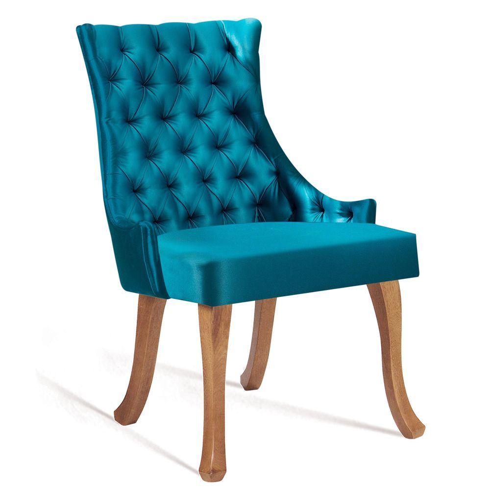 Cadeira de Jantar Estofada Luis XV Capitonê 8109 DAF