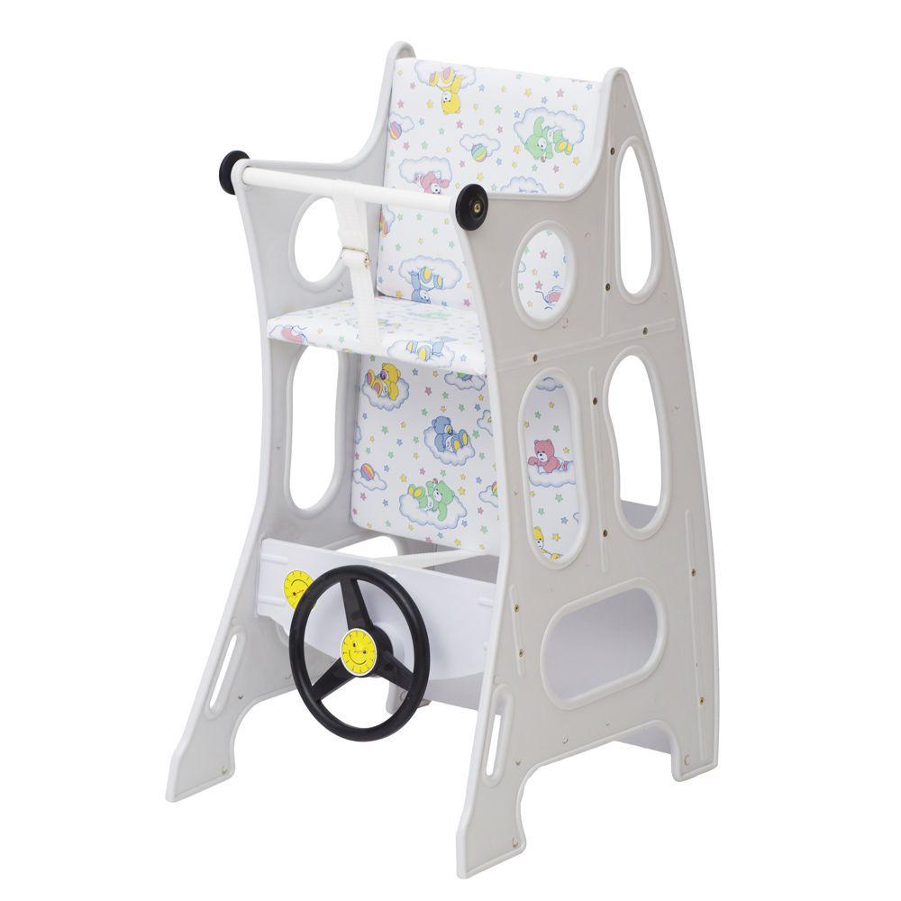 Cadeira de Papá Mágica Multifuncional Branca CD401 Meu Fofinho