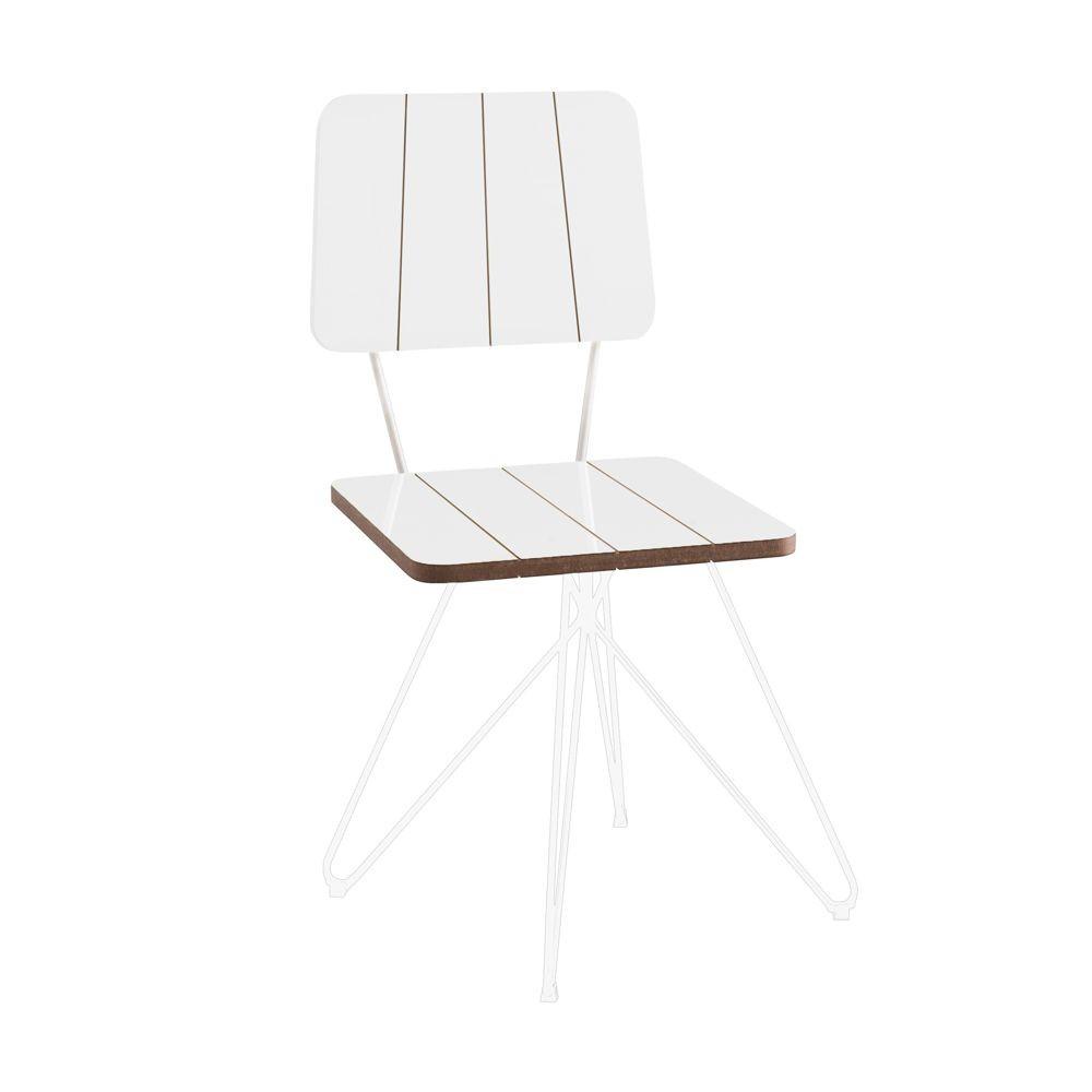 Cadeira em Madeira e Pés em Aço Butterfly Costela DAF Mobiliário