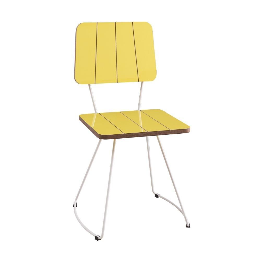 Cadeira em Madeira e Pés em Aço Costela DAF Mobiliário