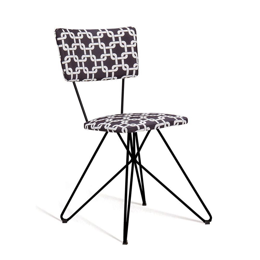 Cadeira Estofada Jantar com Estrutura em aço Butterfly DAF Mobiliário