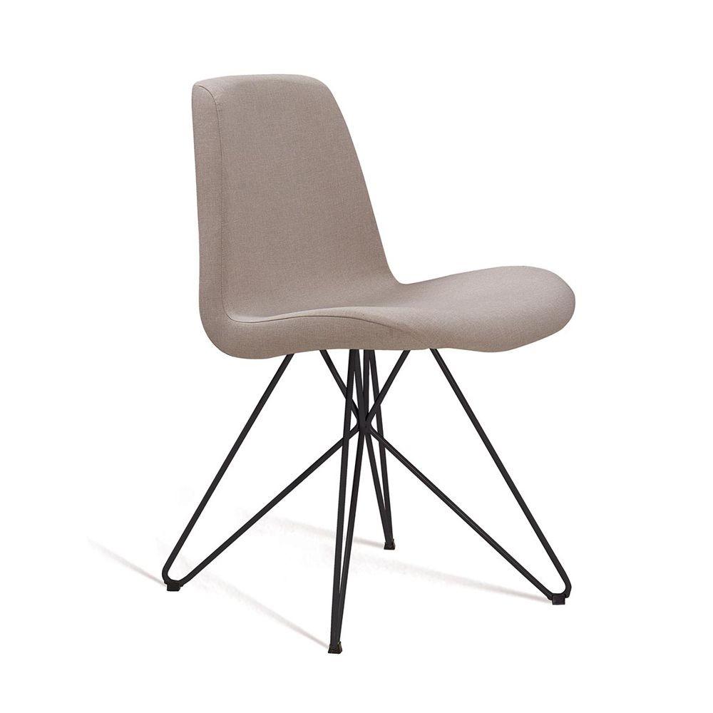 Cadeira Estofada Jantar com Estrutura em Aço Eames Butterfly DAF Mobiliário