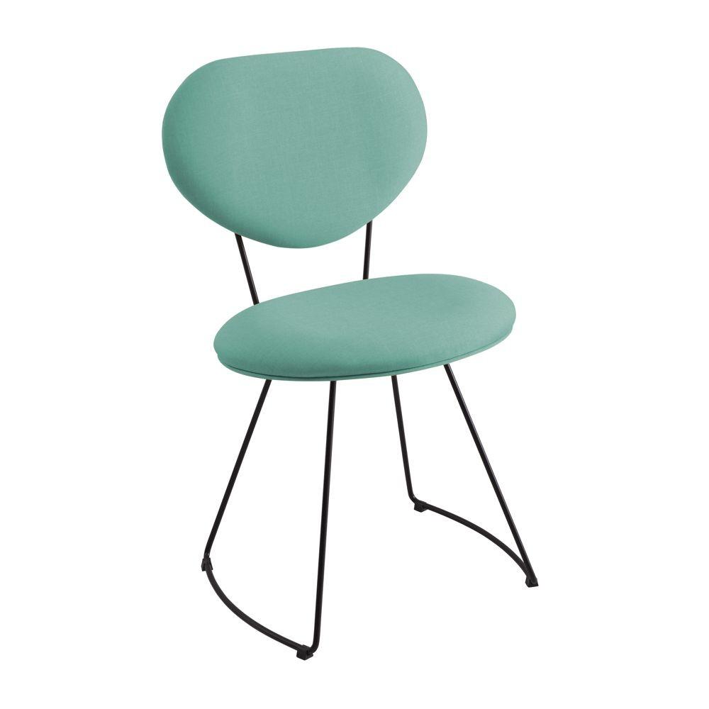 Cadeira Estofada Jantar com Estrutura em aço Milão DAF Mobiliário