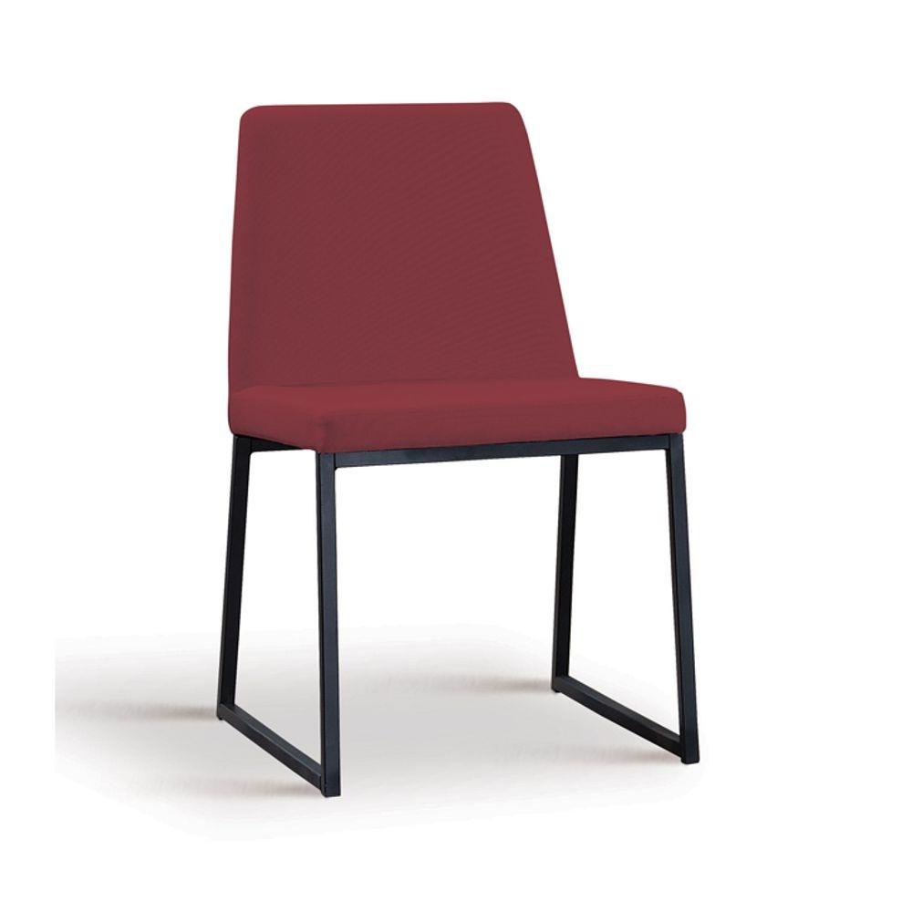Cadeira Estofada Jantar com Estrutura em aço Yanka DAF Mobiliário