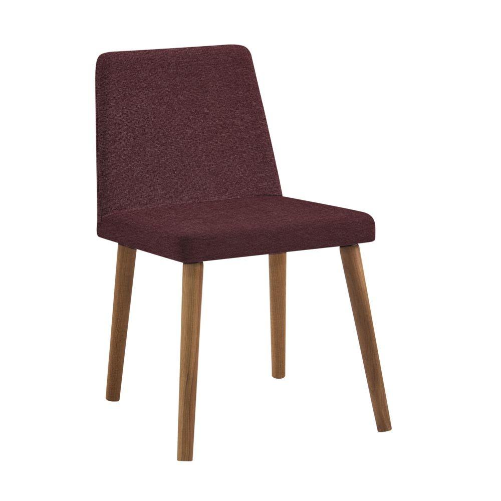 Cadeira Estofada Jantar com pés em Madeira Pri DAF Mobiliário