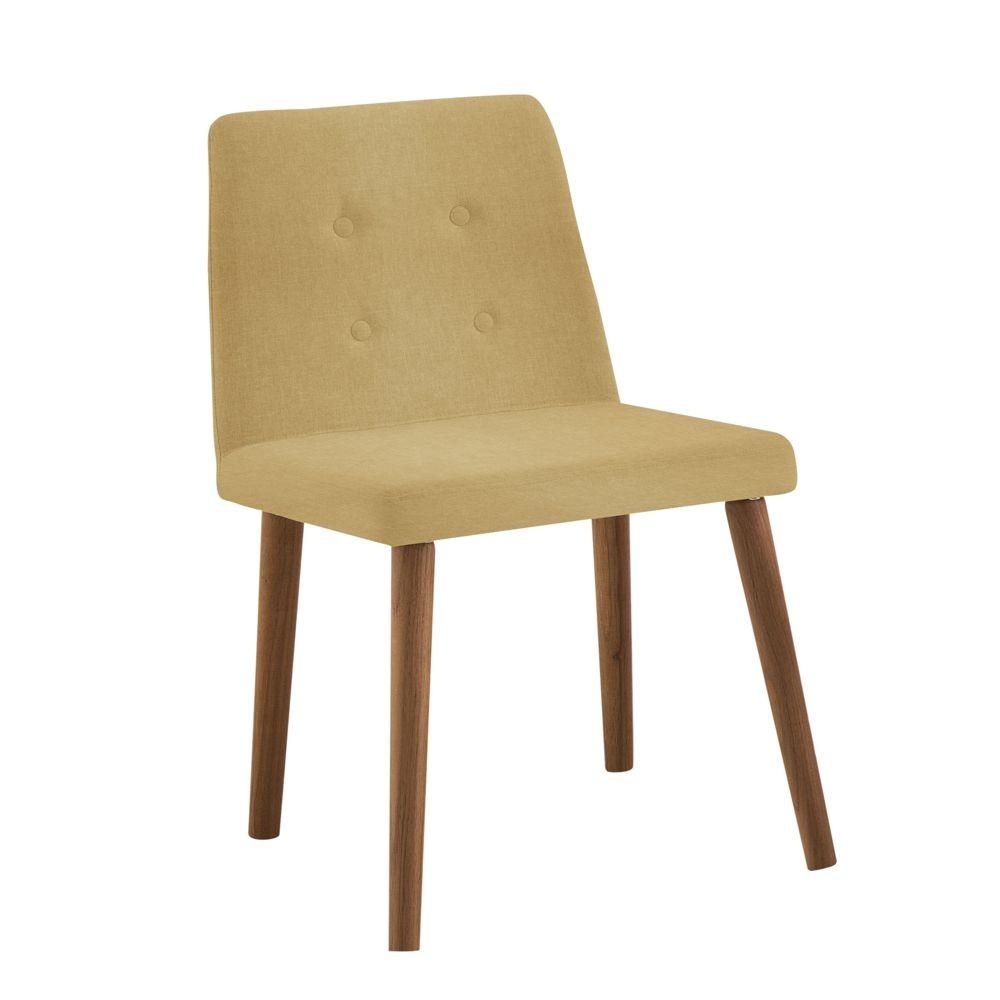 Cadeira Estofada Jantar com pés em Madeira Vega DAF Mobiliário