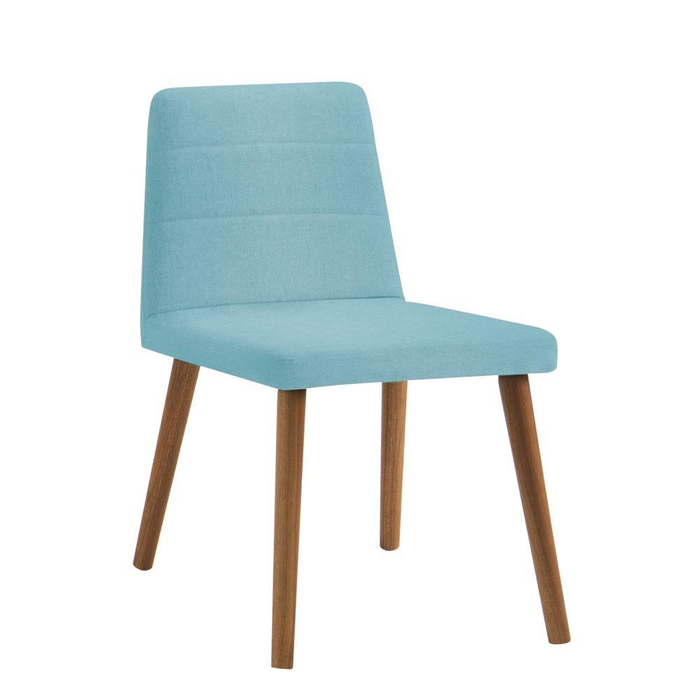 Cadeira Estofada Jantar com Pés em Madeira Yasmin DAF Mobiliário