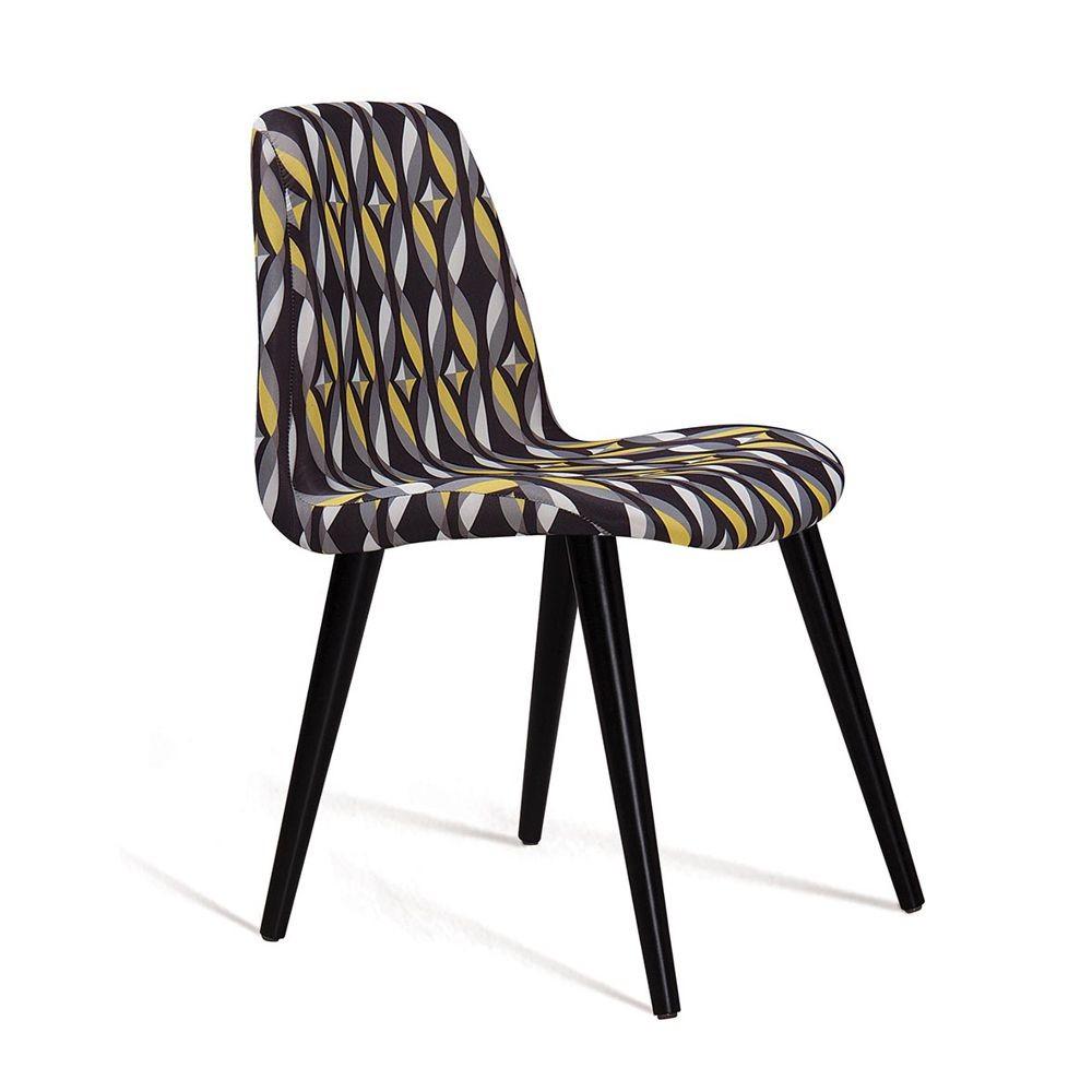 Cadeira Estofada Jantar com Pés Palito Eames DAF Mobiliário