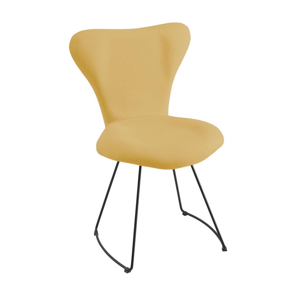 Cadeira Estofada Jantar Estrutura em Aço Jacobsen DAF Mobiliário