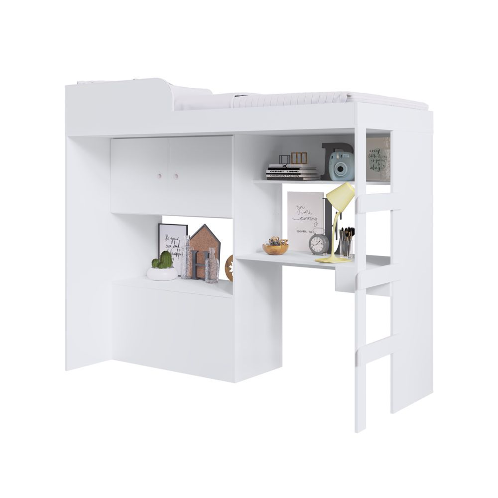 Cama alta com Baú e Escrivaninha integradas Lion CM9090 Art in Móveis