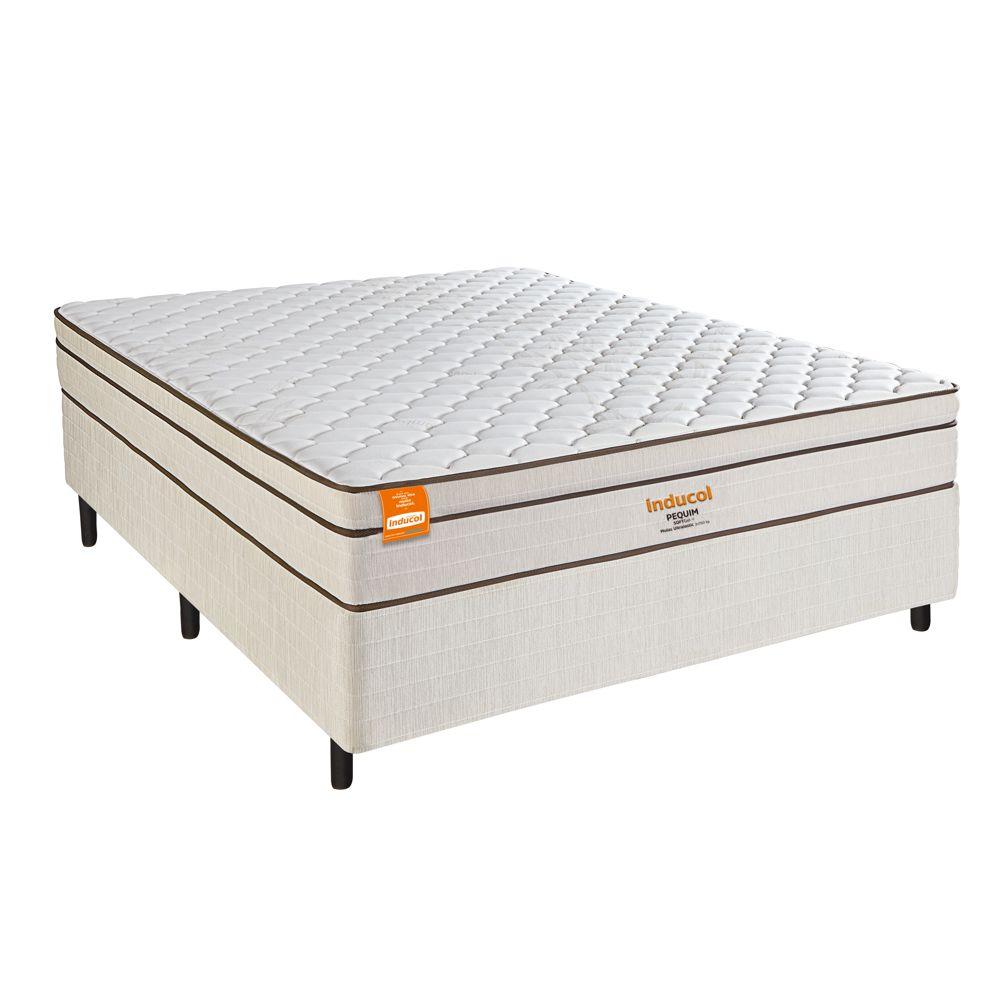 Cama Box Casal com Colchão Pequim SoftGel 138 x 188cm Inducol