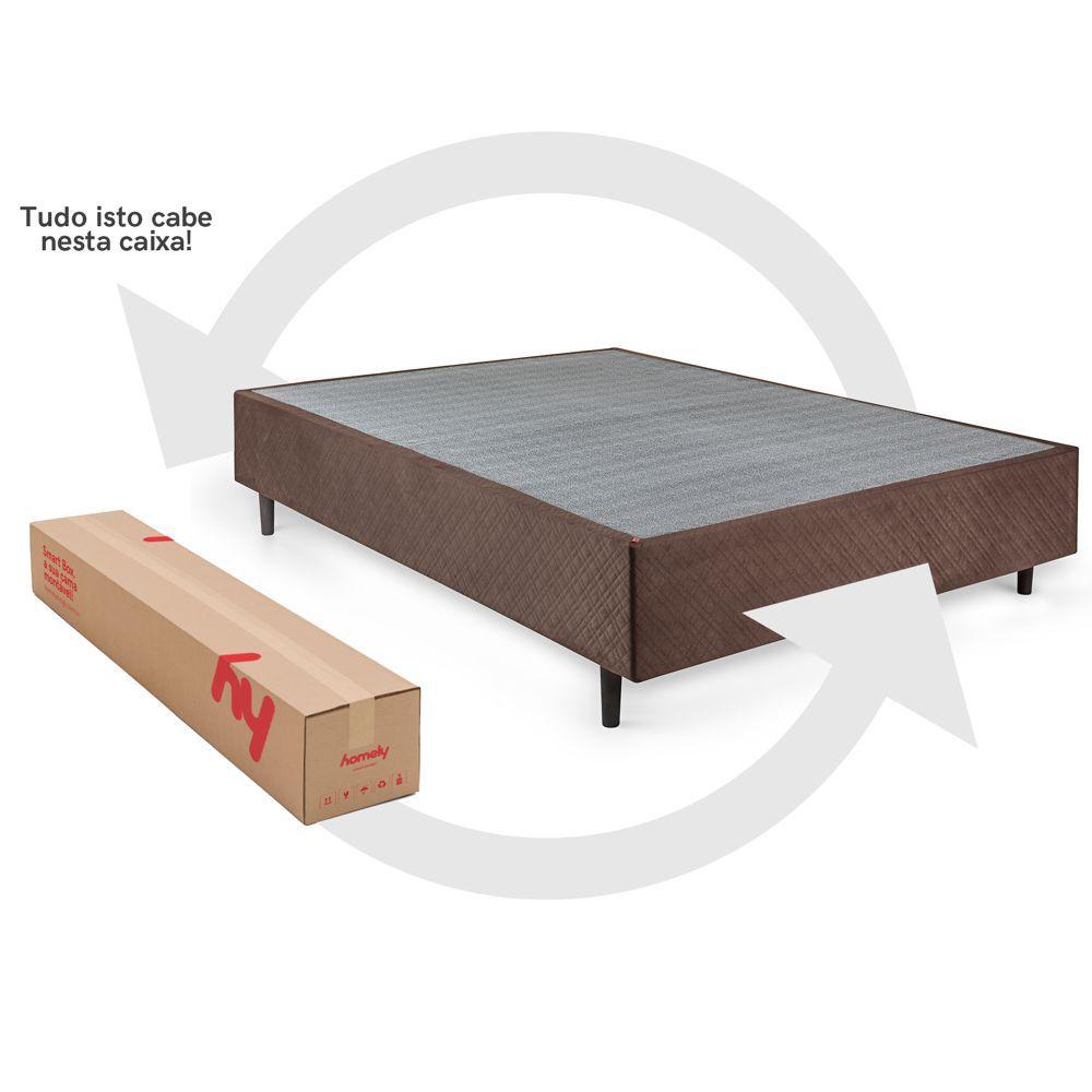 Cama Box Casal Desmontável 1,38x1,88m SM138 Homely Design